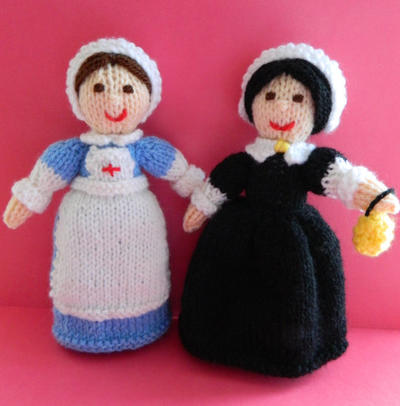 Doll Knitting Patter / Clara - A WWI Red Cross Nurse & Florence Nightingale Doll