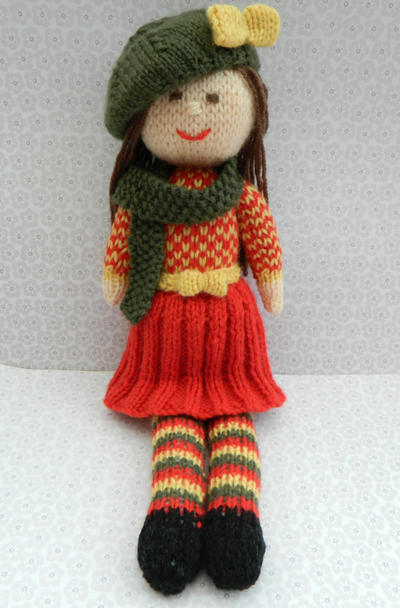 Doll Knitting Pattern / Aster - An Autumn Doll