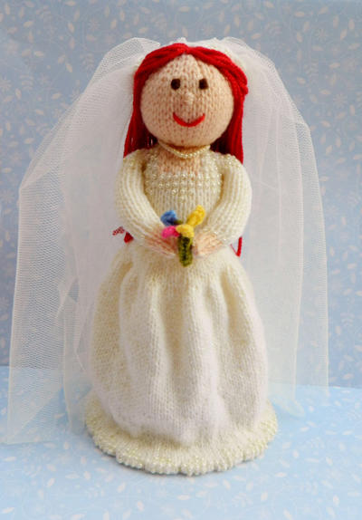 Doll Knitting Pattern / Beatrix - The Beautiful Bride Doll