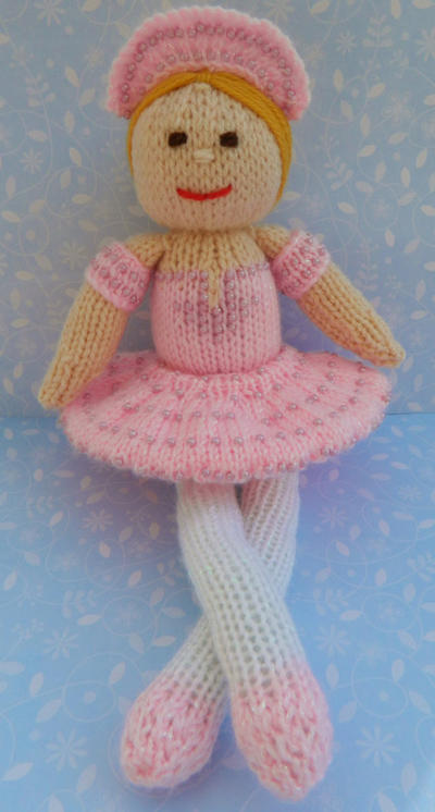 Doll Knitting Pattern /Betsy Ballerina -The Candyfloss Fairy Doll