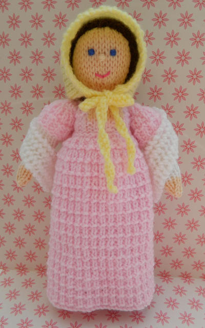 Doll Knitting Pattern / Caroline - A Georgian Doll