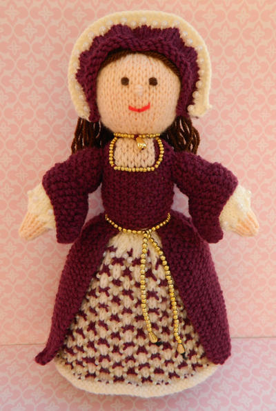 Doll Knitting Pattern / Catherine - A Tudor Doll