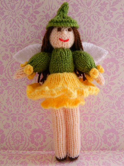 Doll Knitting Pattern / Daffodil Fairy Doll