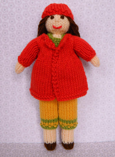 Doll Knitting Pattern / Daisy Doll - Autumn Leaves Outfit