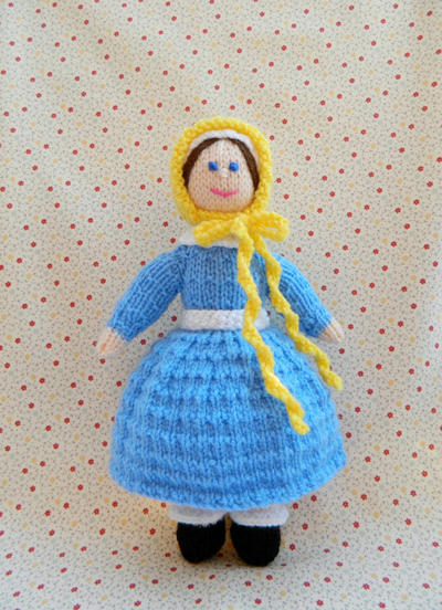 Doll Knitting Pattern / Jane - A Victorian Doll