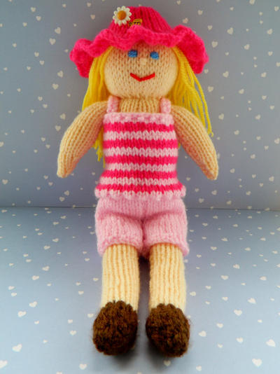 Doll Knitting Pattern / Petunia - A Summer Doll
