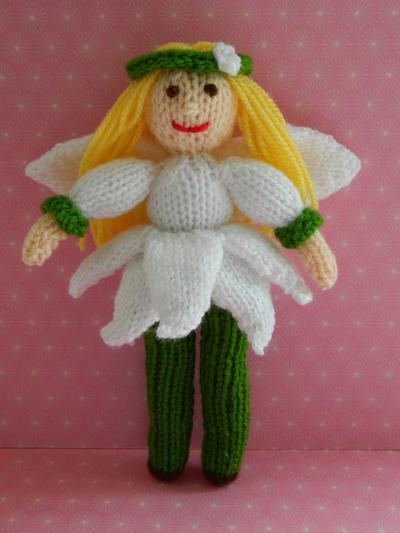 Doll Knitting Pattern / Snowdrop Fairy Doll