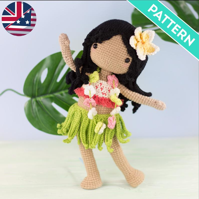 Hawaiian doll crochet pattern
