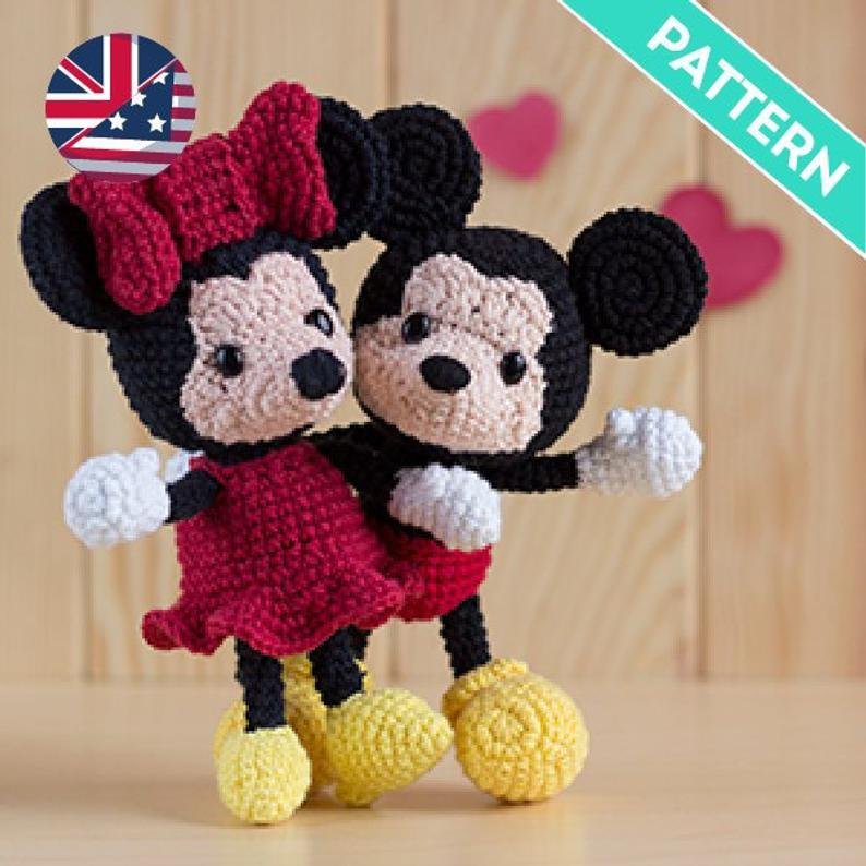 Mickey and Minnie Pack crochet pattern