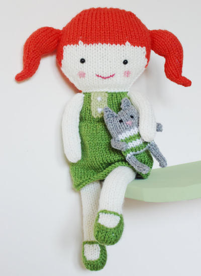 Doll Knitting Pattern Toy Rag Doll Pattern PDF - Olive & Pea