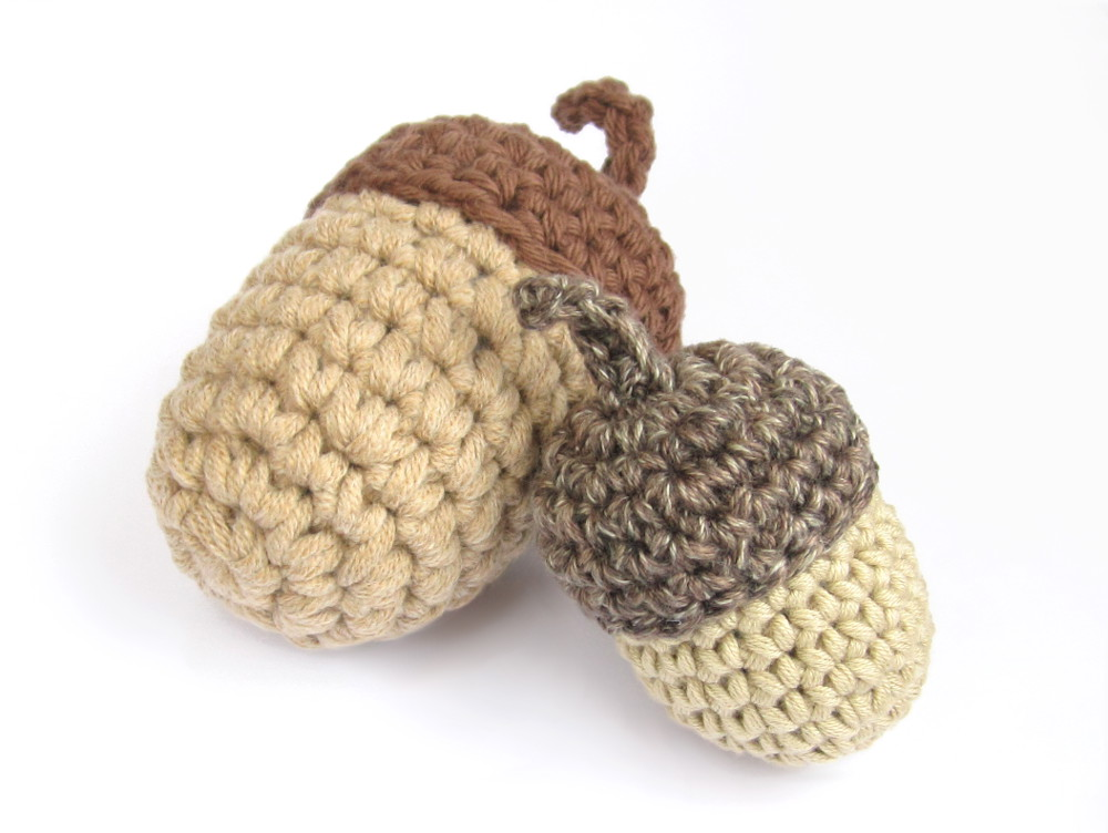 Crocheted Acorn Pattern