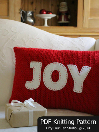 Christmas Pillow Knitting Pattern