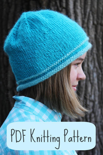 Hat / Beanie / Girls / Teen / Women / One Size / Quick Easy Knit