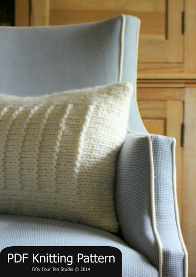 Knitting Pattern Cushion