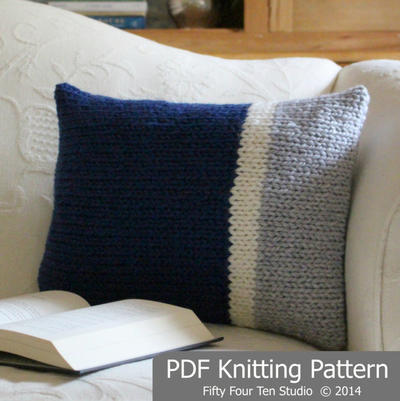 Knitting Pattern Cushion, Quick & Easy Knit