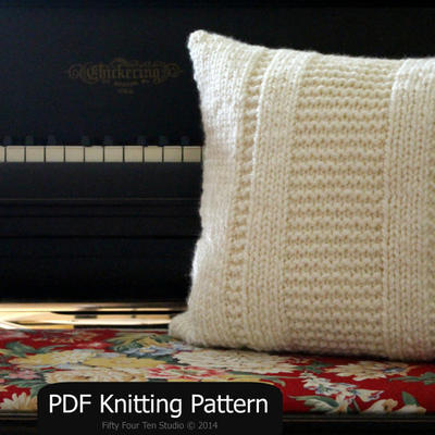 Knitting Pattern Pillow