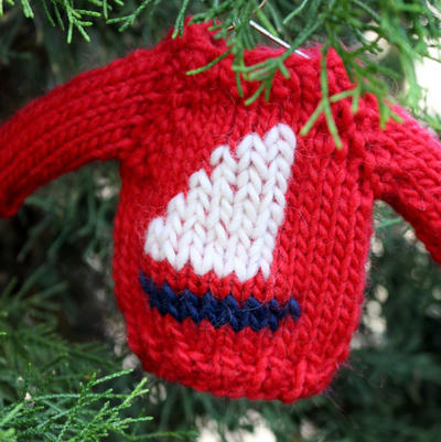 Mini Sailboat Sweater / Christmas Ornament