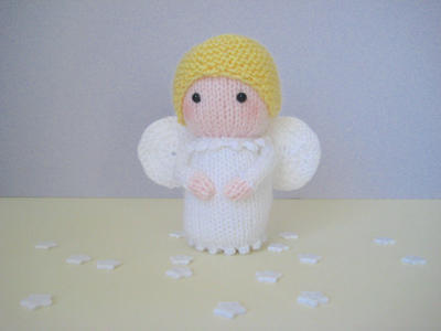 Angel toy doll knitting pattern