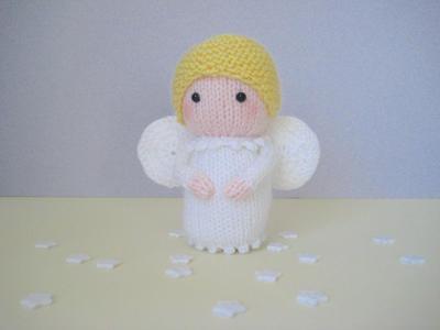 Angel toy doll knitting pattern
