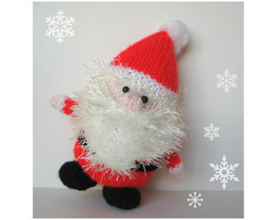 Father Christmas toy knitting pattern