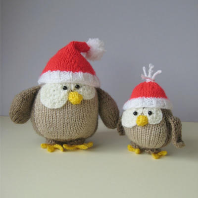 Festive Owls toy knitting patterns