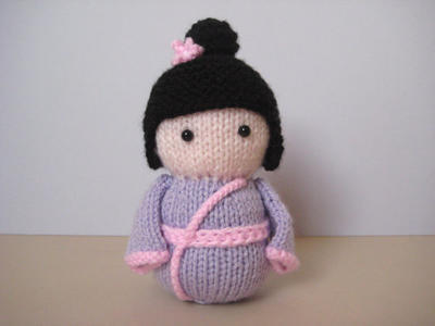 Geisha Girl toy doll knitting pattern