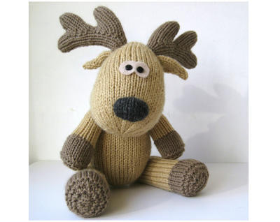 Rupert Reindeer toy knitting pattern