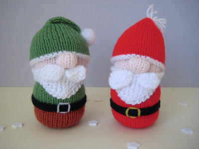 Santa and Gnome toy doll knitting patterns