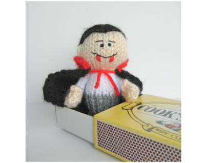 The Little Vampire toy knitting pattern