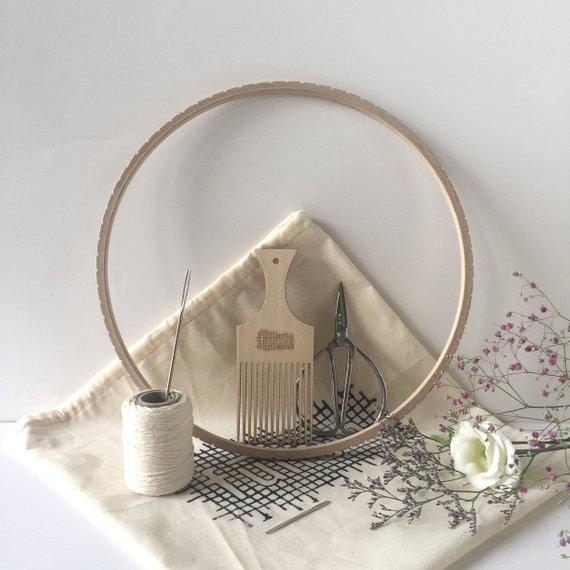 Circular Weaving Loom Kit / 28 cm / 11 inch /