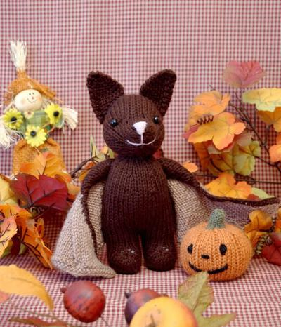 Bat and Jack O' Lantern Knitting Pattern