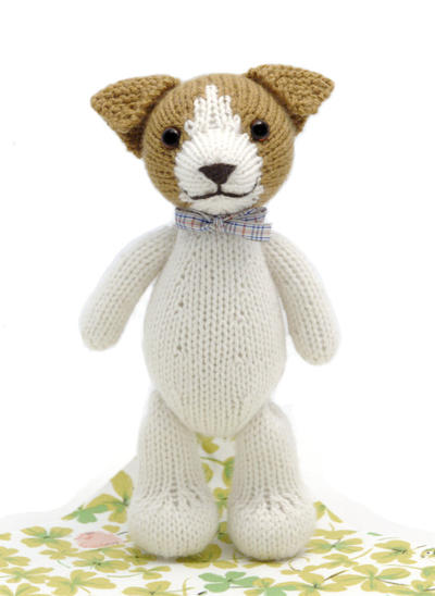 Fudge the Jack Russell Terrier Toy Knitting Pattern