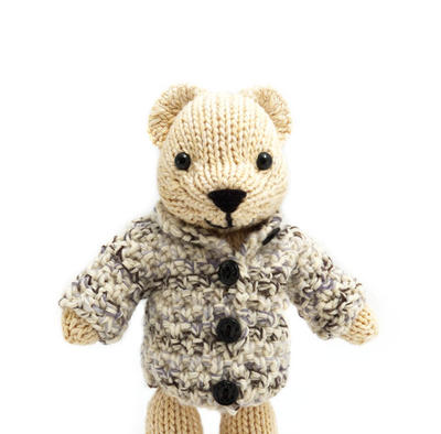 Polar Bear with Jacket Knitting Pattern