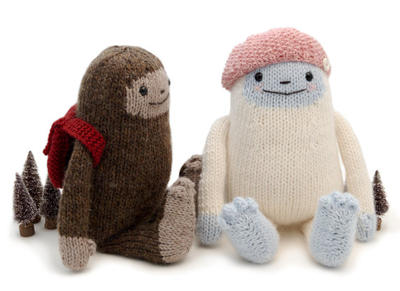 Yeti and Sasquatch Knitting Pattern