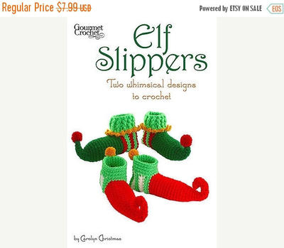 Christmas Elf Slipper Shoes Crochet pdf Pattern