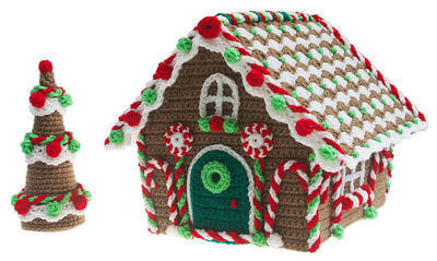 Christmas Gingerbread Cottage Crochet pdf Pattern