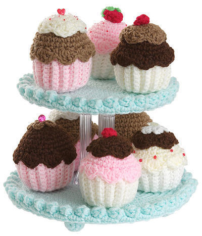 Crochet Cupcake Tree pattern pdf