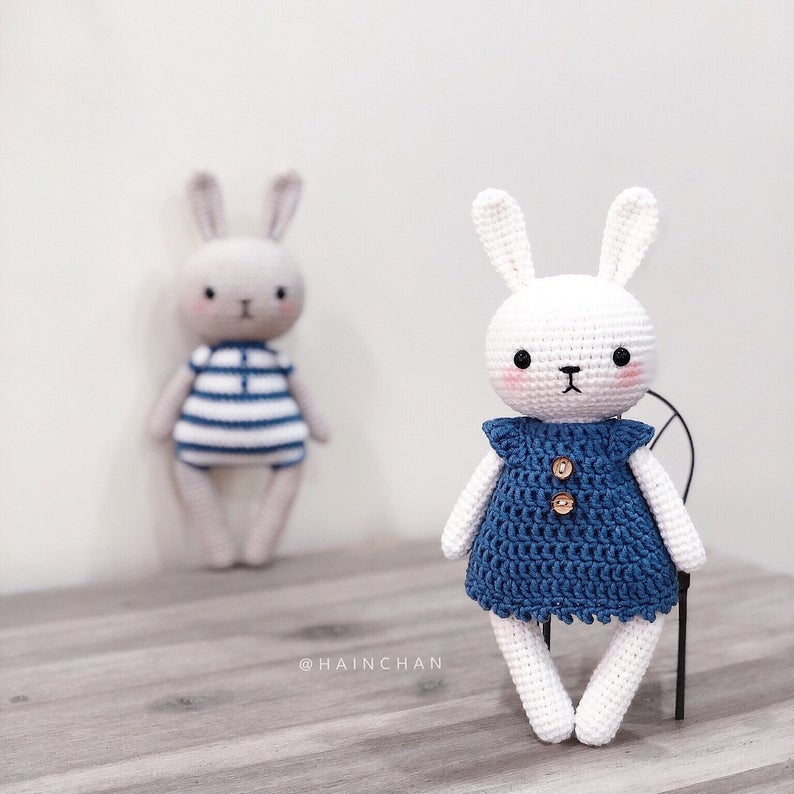 Bunny Couple Crochet Pattern