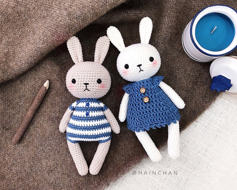 Combo 2 crochet pattern: Lucy the Bunny & Bunny Couple
