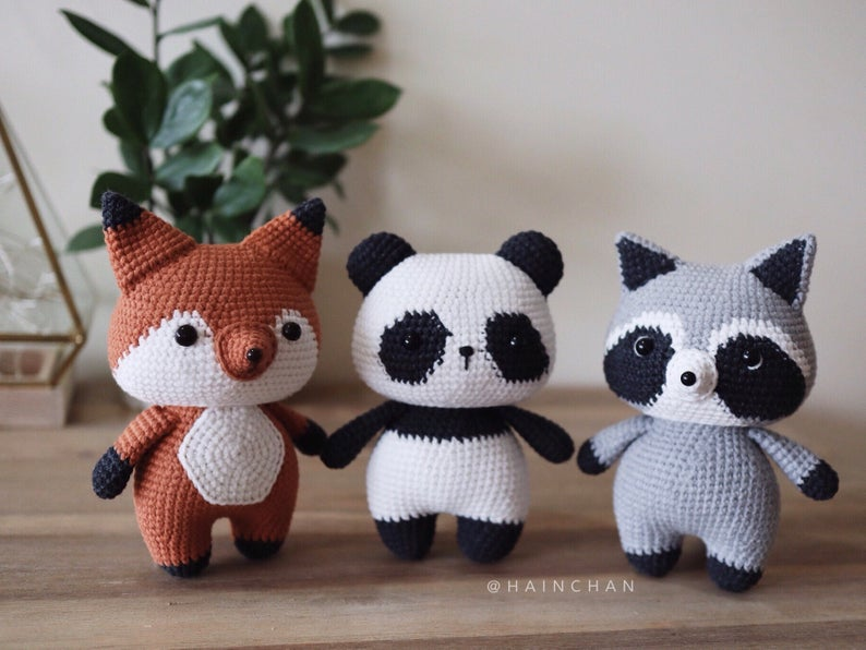 Combo 3 in 1: Coral The Little Fox, Fei Fei The Little Panda & Tico The Little Racoon