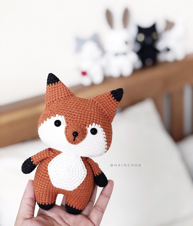 Coral The Little Fox - Crochet PDF pattern