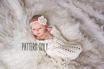 Baby cocoon and headband crochet pattern