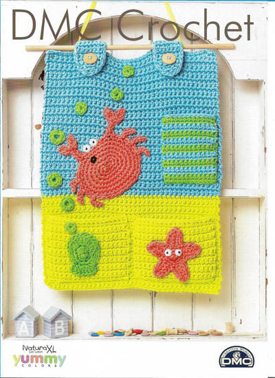 Rockpool Crochet Pocket Pattern with Natura XL