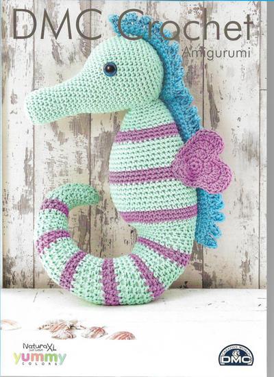 Sea Horse Amigurumi Crochet Pattern (DMC Natura XL)