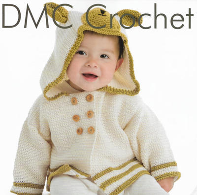 Teddy Bear Cardigan Crochet Pattern for Babies
