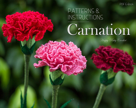 Carnation Flower Crochet Pattern