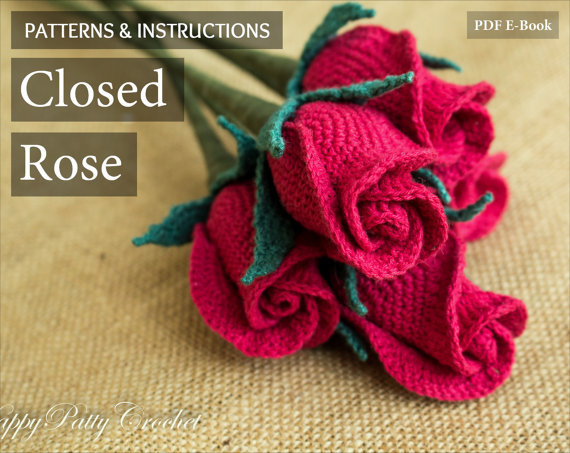Closed Rose Crochet Pattern