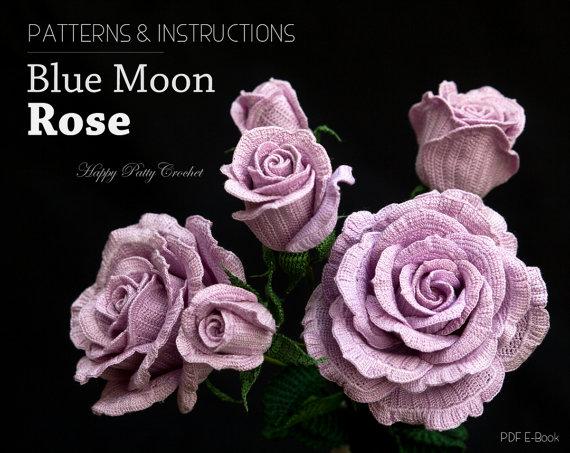 Crochet Blue Moon Rose pattern