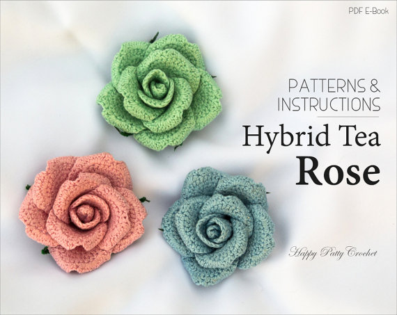 Hybrid Tea Rose Crochet Pattern