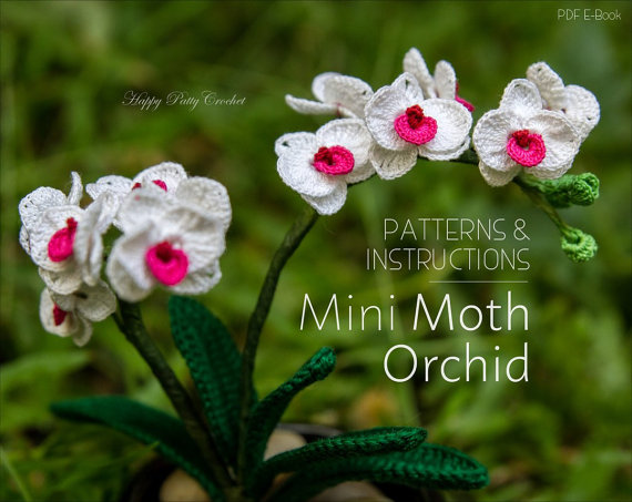Mini Moth Orquid Crochet Pattern